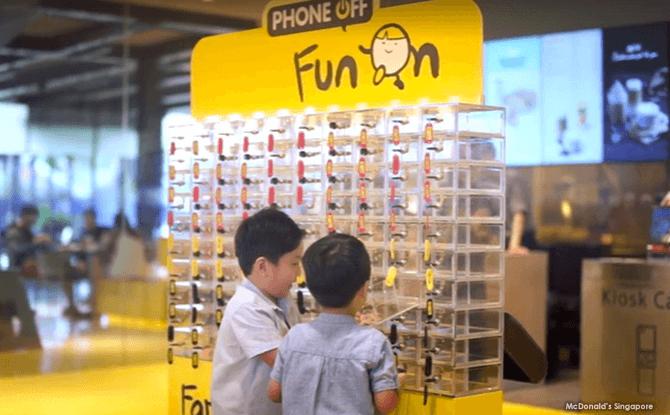 Mobile Phone Lockers at McDonald's Marine Cove