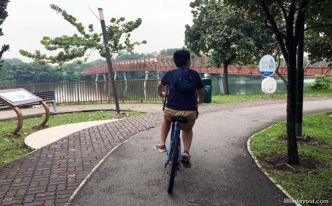 Arriving at Lorong Halus Bridge
