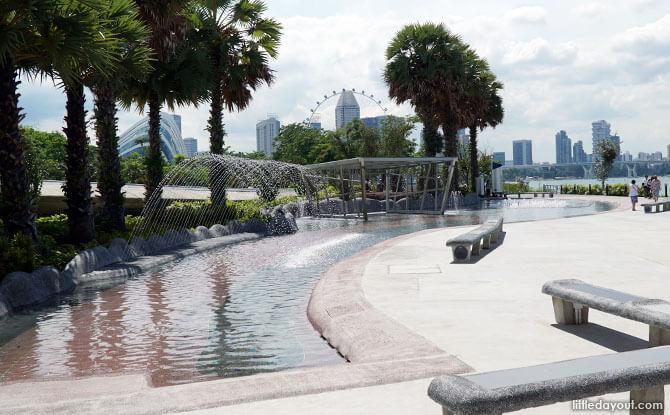 Marina Barrage Water Playground Overview