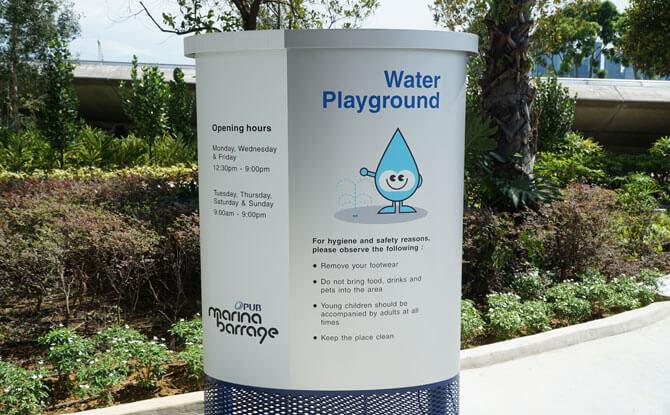 Marina Barrage Water Playground Opening Hours