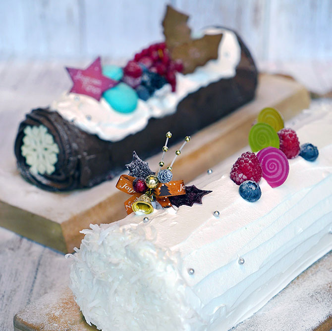Log cakes from The Marmalade Pantry