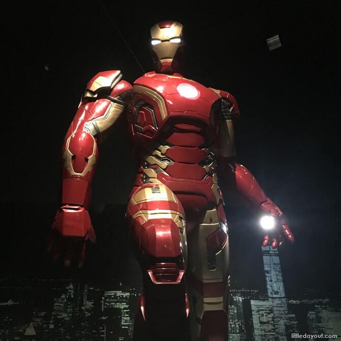 Towering statue of Iron Man