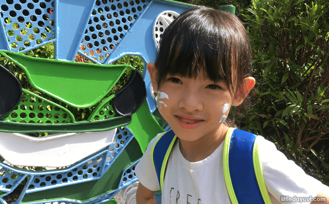 Exploring the Jacob Ballas Children's Garden maze