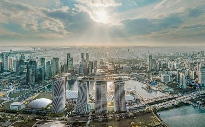 Artist rendering of New Marina Bay Sands Tower.