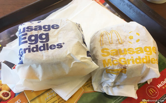 McDonald's Sasuage McGriddles: With And Without Egg
