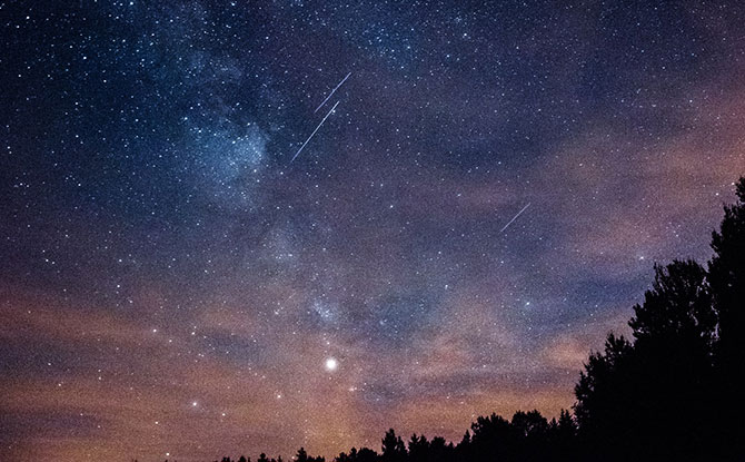 Perseid Meteor Shower: Earth Passing Through Comet Dust