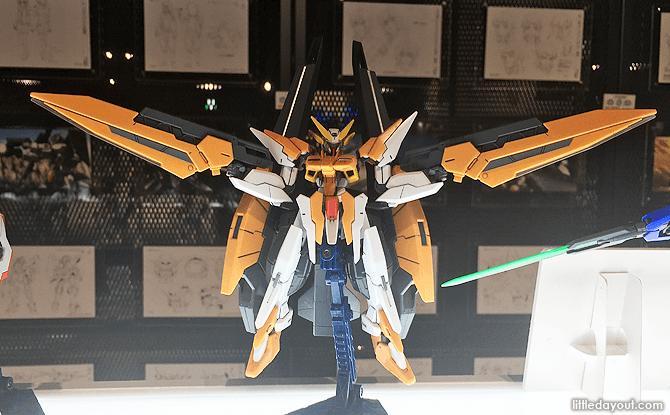 Gundam model on display at Gundam Base Tokyo