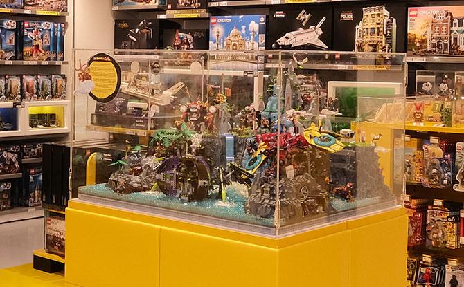 Monkie Kid-themed diorama