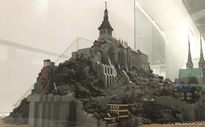 Mon-Saint-Michel in France in LEGO