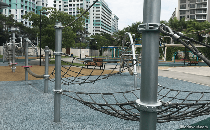 Rope obstacle course at Canberra Park