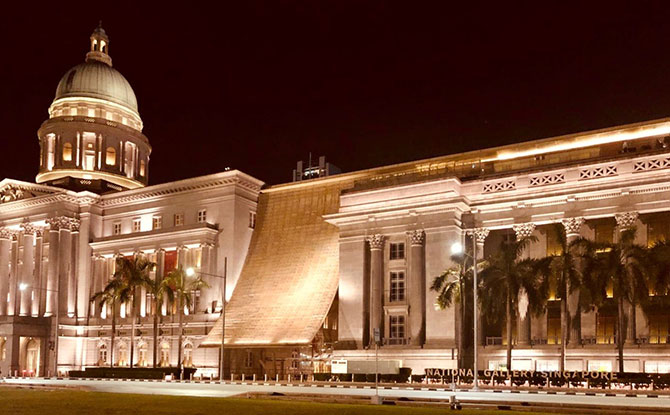 Gold September: National Gallery Singapore Turns Gold In Support Of Childhood Cancer Awareness Month