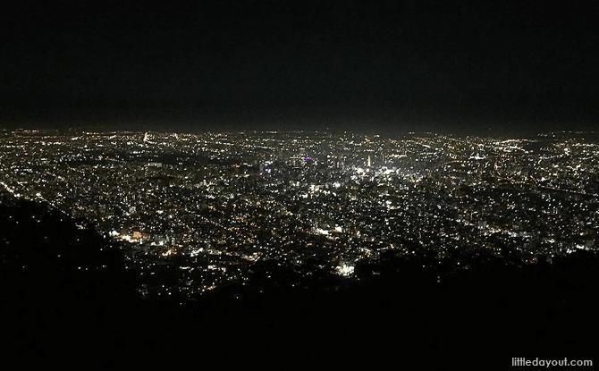 Night view of Hokkaido from Mount Moiwa