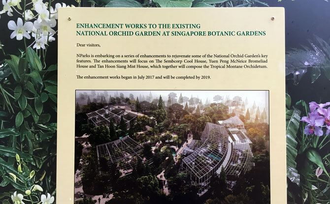 Closure of part of National Orchid Garden