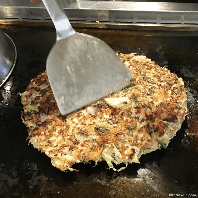 Okonomiyaki at Sakura Tei, Harajuku