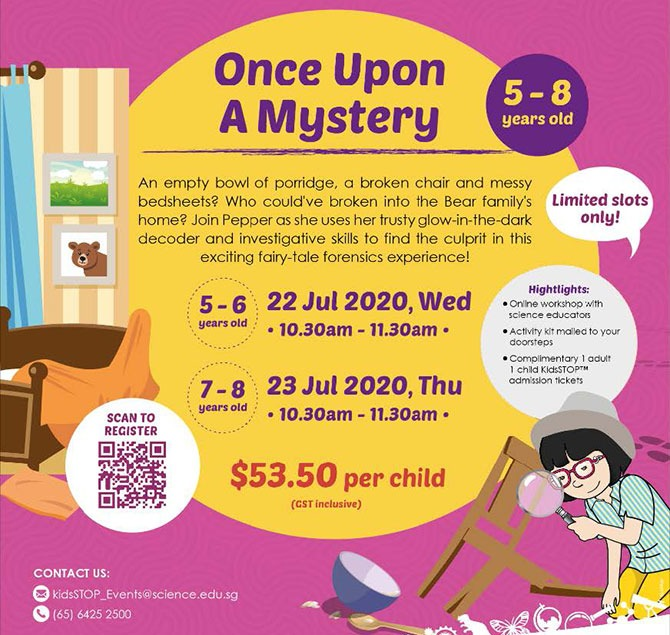 Once Upon A Mystery by KidsSTOP in July 2020