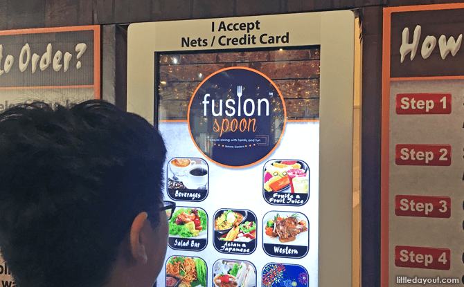 Order at the touch-screen kiosk