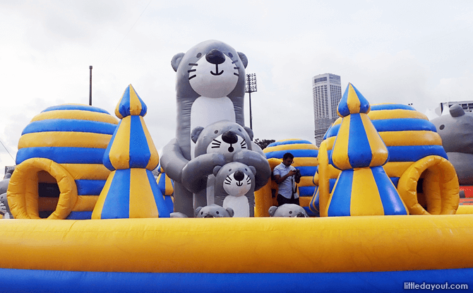 Otters at Art-Zoo Inflatable Park 2018