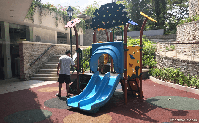 Outdoor children's playground at Fusion Spoon, Singapore Botanic Gardens