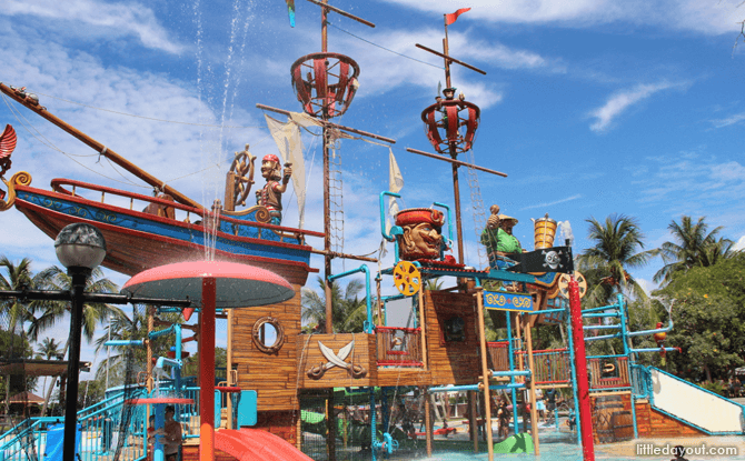 Palawan Pirate Ship Playground - Sentosa Beach