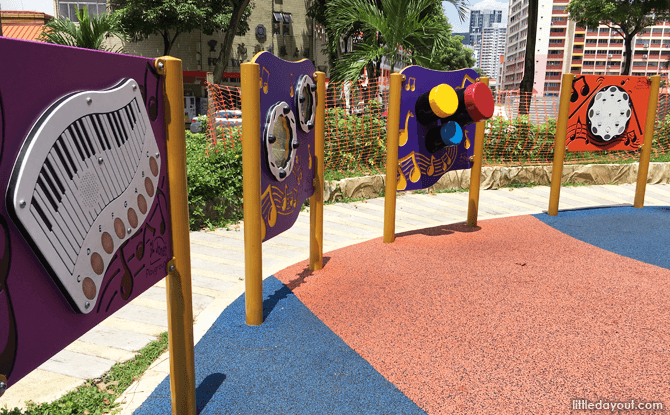 Music-themed play panels