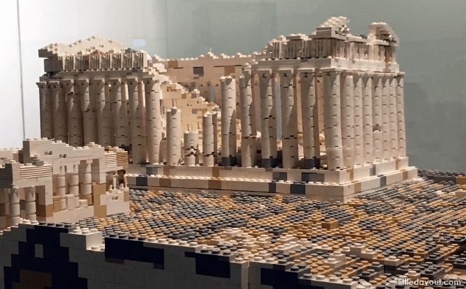 Pantheon at Piece of Peace World Heritage Exhibit Built With LEGO Bricks