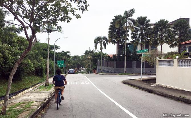 Cycling along Pasir Ris Heights