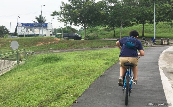 Cycling past Mainland Fish Farm
