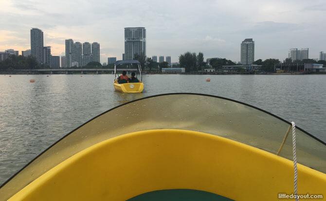 Pedal boat at Singapore Sports Hub