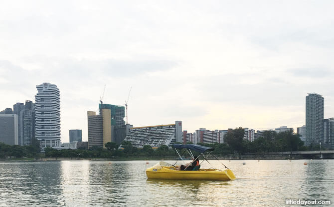 Pedal boat on the Kallang River