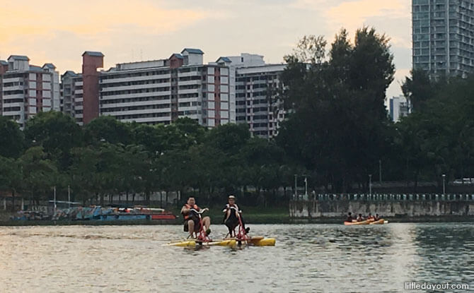 Water bicycles, Water Sports Centre