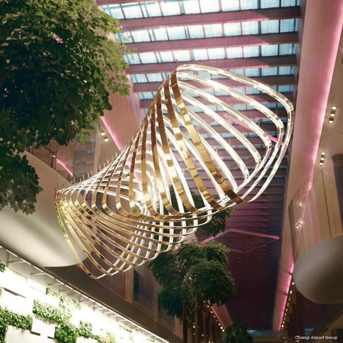 Petalclouds, Changi Airport T4