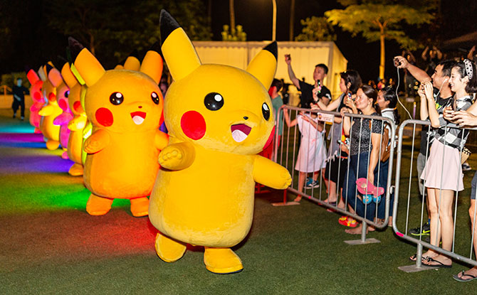 Catch A Pikachu Parade At Pokémon GO Safari Zone Sentosa