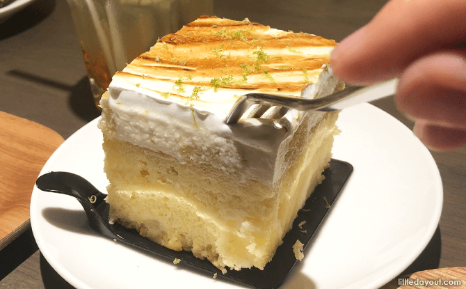 Pineapple dessert at Muji Cafe&Meal