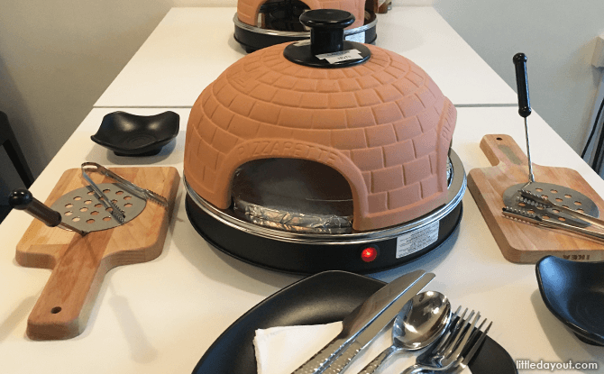 Pizzaretta Oven, Make Your Own Pizza at the Table