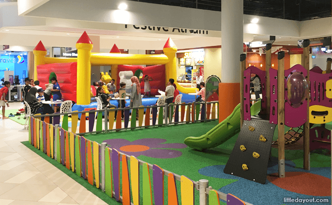 Bouncy castle at Our Tampines Hub basement