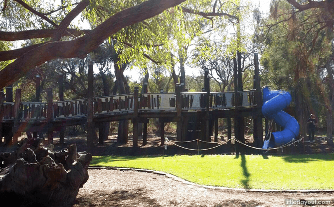 Wooden Playground at Synergy Parkland, Kings Park