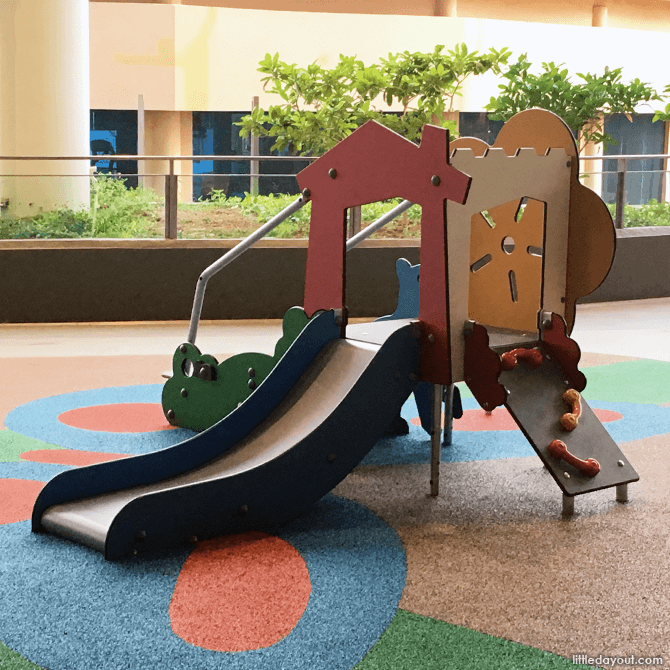 Play structure at OTH Open Air Playground on Level 2