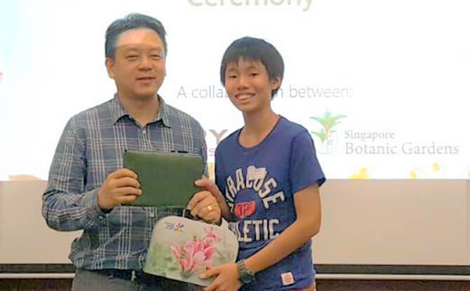 Ryan Tay at the Poetry Competition 2018 Prize Presentation