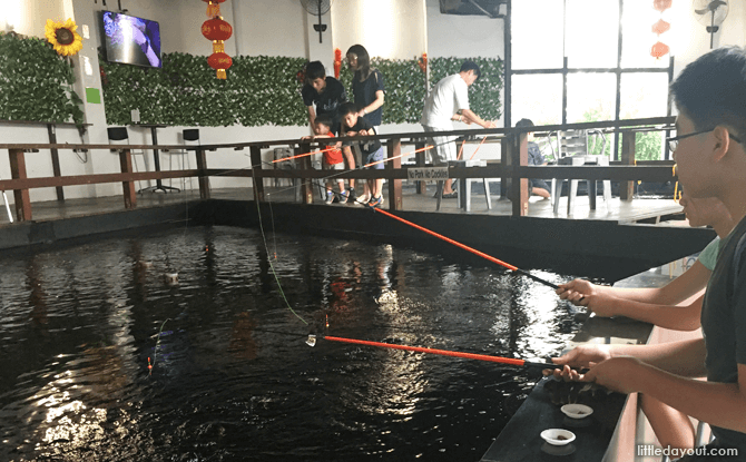 Prawning ponds at Fish@Bugis - Things to Do in Singapore