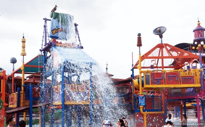 Splash time at Professor's Playground