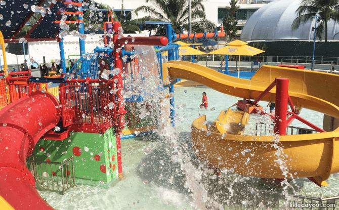 Water slides at Professor's Playground