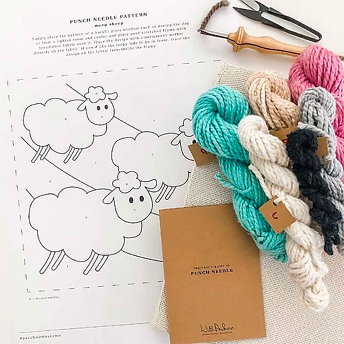 Punch Needle Kits from WithAutumn