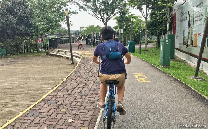 Cycling at Punggol Waterway
