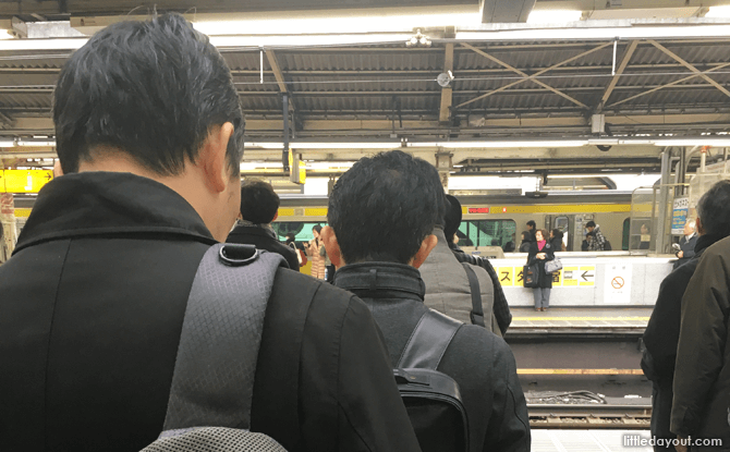 Queue for Trains in Tokyo