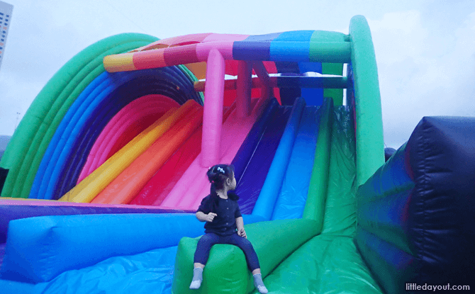 Chase the rainbow at Art-Zoo Inflatable Park 2018
