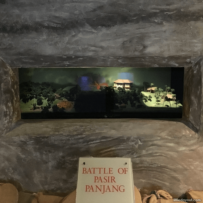 View a multimedia presentation of the Battle of Pasir Panjang inside a pillbox