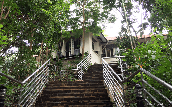 Stairs leading up to Reflections at Bukit Chandu