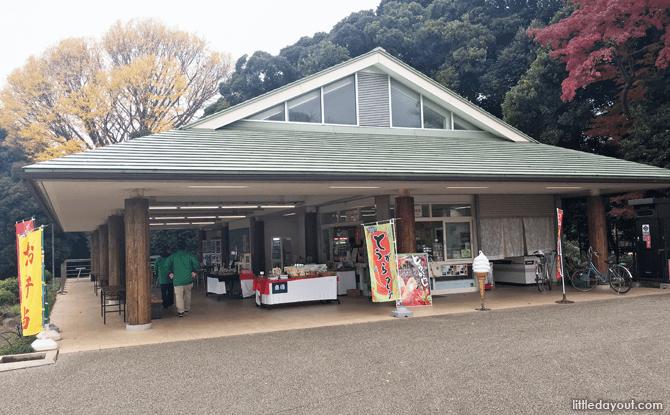 Rest stop at Shinjuku Gyoen National Garden