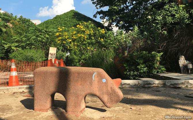 Rhino at Playground