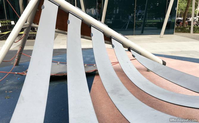 Ribbons of plastic, Marina Bay Playground